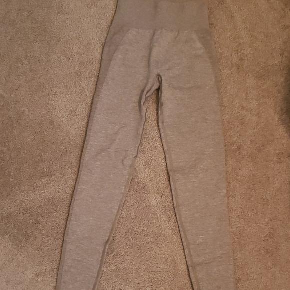 Gymshark khaki/taupe flex leggings